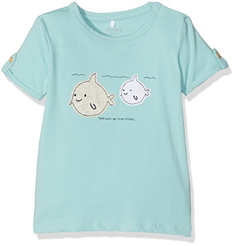 Name It Nitdevin Ss Top Mznb, Body Bébé Garçon, Bleu (Bright White), 68