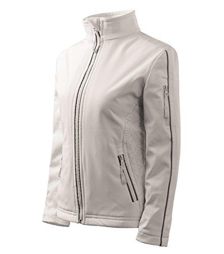 Adler Softshelljacke Damenjacke Regen und Winddicht mit Reflektoren Jacke Größe und Farbe wählbar - (XXL, Weiss)