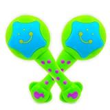 ISEE Baby Musical Toys, Infant Learning Maracas Toys for 1 2 Year Old Girl Boy, Handheld Take Along Tunes Rattle with Beat. My First Instrument 6 12 Months Babies Toddler