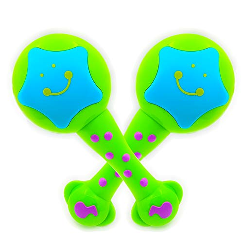 ISEE Baby Musical Toys, Infant Learning Maracas Toys for 2 Year Old Girl Boy, Handheld Take Along Tunes Rattle with Beat. My First Instrument 18 Months Babies Toddler
