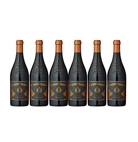 Doppio Passo Brindisi Riserva Rotwein veganer Wein trocken DOC Italien (6 Flaschen)
