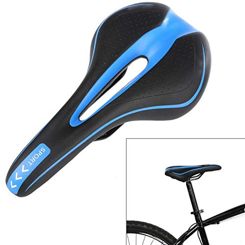 Cojín de Asiento de Bicicleta Transpirable, sillines de Bicicleta, Funda de Asiento de Bicicleta Asiento de Bicicleta de Gel Suave para Mujeres/Hombres, se Adapta a Bicicletas(Azul)