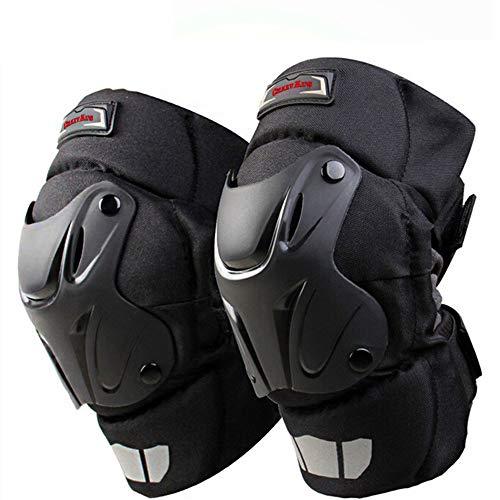 Crazy Al's® CAK Knieschoner für Motorrad, Motocross, Rennsport, Knieschoner, Schutzausrüstung, Schwarz