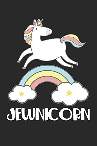Jewnicorn: Niedliches Einhorn Regenbogen Jude mythisches Pony Jüdisch Notizbuch liniert DIN A5 - 120 Seiten für Notizen, Zeichnungen, Formeln | Organizer Schreibheft Planer Tagebuch