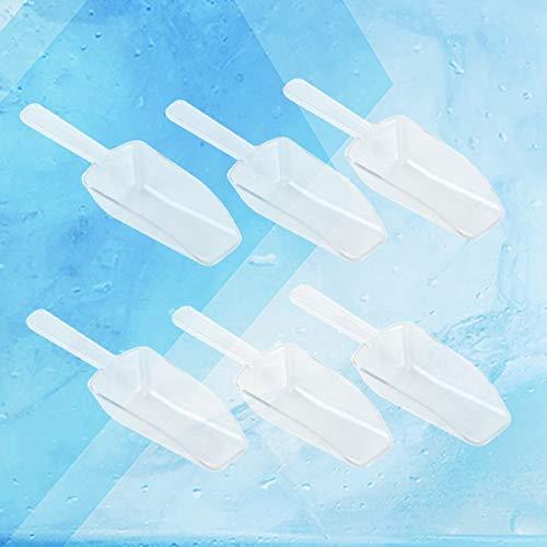 TOYANDONA Ocho cucharas plásticas mini-transparentes,dulces,palomitas de maíz,frijoles,harina,cuchara de comida casera.