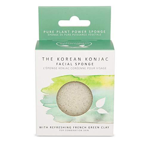 The Konjac Sponge Co éponge Facial pour nettoyer, Vert – 1 unité