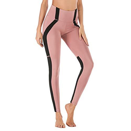 BAOFU Laufhose Damen mit Tasche lang Bildschirm Nähen Handy,Mobiltelefon Telefon Tasche Sport Yoga Neun-Minuten-Hose
