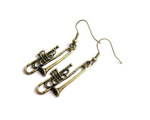 Trompeten Ohrringe bronze-farben Damen Modeschmuck
