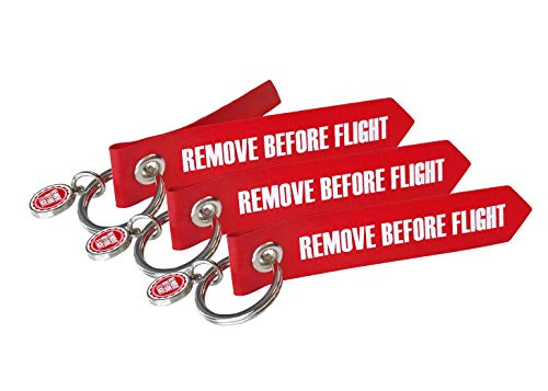REMOVE BEFORE FLIGHT Mini-Originals 3 Stück - Original Luftfahrtmaterial