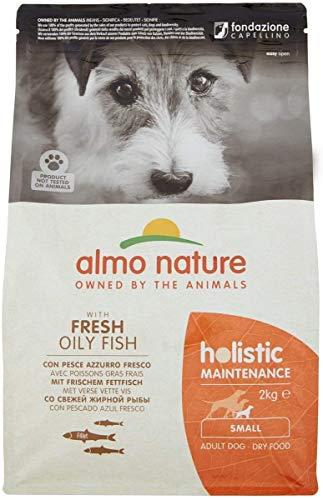 almo nature Holistic Maintenance Croquettes pour Chien avec Poisson Blanc Frais et Riz, XS/S, Sac de 2 kg