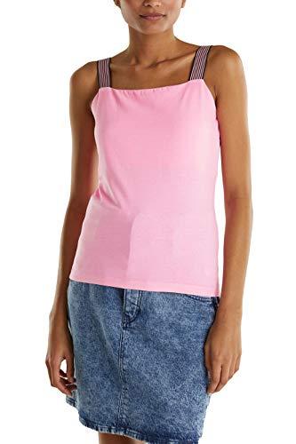 edc by ESPRIT Damen 040CC1K311 T-Shirt, 670/PINK, L