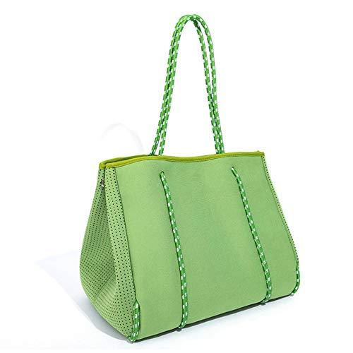N\C Strandtaschen Handtaschen Damen Tote Taschen Mutter Kind Taschen Mama Taschen Multifunktionale Schwimmbadtaschen mit Reißverschlusstaschen Kann Handtücher, Spielzeug und Lotionen speichern