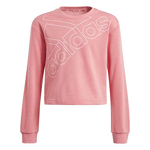 adidas G Logo Swt, Suéter pulóver Niñas, Hazy Rose/Light Pink, 13 Anni