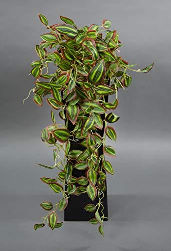 Melonenblatt-Ranke/Tradescantia-Ranke Real Touch 65cm ZF Kunstpflanzen künstliche Pflanzen Ranke