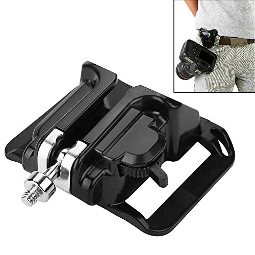 Kioducky Camera Holster, Fast Loading Camera Holster Belt Hanger Carry Your Light Weight Cameras from Your Waist Belt, Free Your Hand and Keep Your Camera Safe, Great for Climbing Wedding Travel