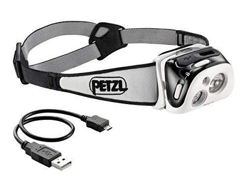 PETZL - Linterna Frontal Recargable REACTIK Negro 220 lumens