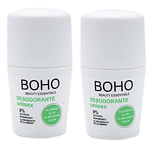 BOHO Desodorante Unisex 50ml, 2 Unidades