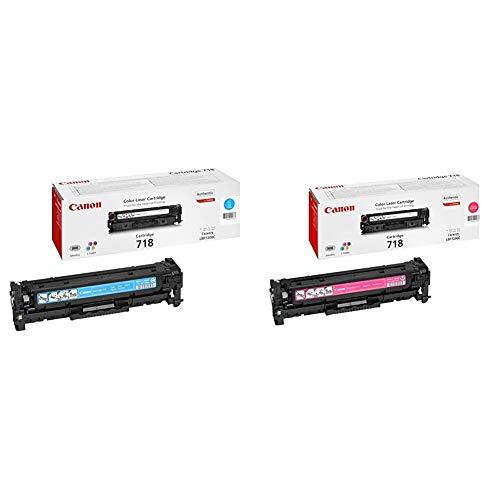 Canon 718C Cartouche Toner pour Imprimante Laser LBP7200Cdn Cyan & 718M Cartouche Toner pour Imprimante Laser LBP7200Cdn Magenta