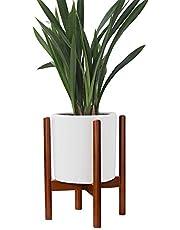 LouisaYork - Soporte para macetero de madera de haya para balcón, interiores y exteriores, para decoración de hogar o jardín (maceta no incluida)