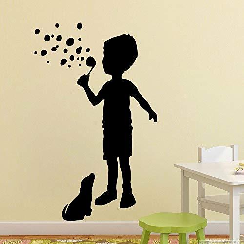 Tianpengyuanshuai Slagbellen van kinder- en hondenwandafbeelding jong schert slaapkamer-index-vinylsticker