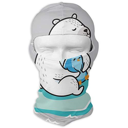 NOBRAND Máscara cara completa capucha oso polar Kawaii
