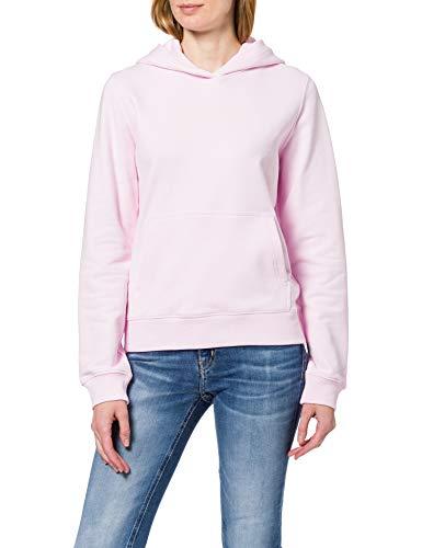 Calvin Klein Jeans Shrunken INSTITUTIONAL Hoodie Suter, Rosa Perlado, M para Mujer