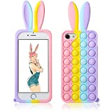 """Jowhep for iPhone 6/6S/7/8/SE 2020 Case Cover Cases Silicone Cartoon Fun Kawaii Cute Aesthetic Design Fidget for Girls Boys Friends Women Teen-Bubble Rabbit Ears(for iPhone 6/6S/7/8/SE 2020 4.7"""")"""
