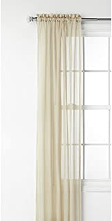 Style Selections Fillion 84-in Taupe Polyester Rod Pocket Sheer Single Curtain Panel