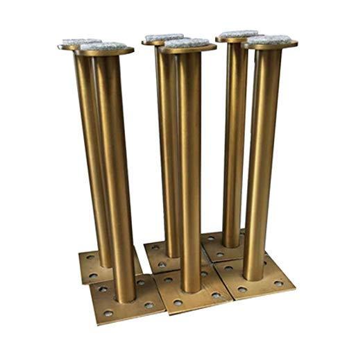 WECDS-E 4Pcs 60160mm 60210mm Gold Bronze Möbelschrank Schrank Verstellbare Metallbeine Tischfüße (Farbe: 60x160mm)
