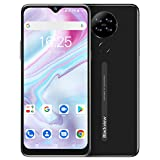 Unlocked Smartphones, Blackview A80 Android 10 Smartphone, 6.21 inch HD + Screen, Four Rear Cameras, 2GB + 16GB, 4200 mAh Battery, 8.8 mm Smooth & Slim Design, Dual SIM Unlocked Cell Phone GPS Black