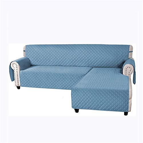 Wasserdichter Sofabezug, großer Sofa-Schonbezug, gesteppt, dick, für Kissen, Sofa, Schonbezug, Schutz vor Haustieren und Hunden (blau, L)