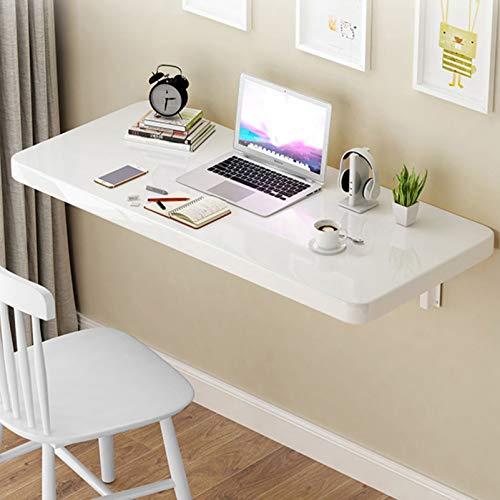 Warooma Wand montierter Tisch Klappbarer Computertisch aus Holz, für kleine Räume Schreibtisch/Büro/Küche Esstisch/Computertisch/Kindertisch, Multi-Size Optional
