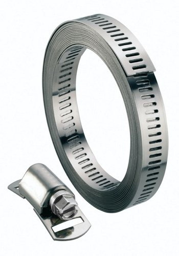 Boutté BSF8 Kit collier acier largeur 8mm longueur 3m 8 tetes, Argent