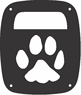 JeepTails Dog Paw - Jeep TJ Model Wrangler (1997-2006) Tail Lamp Covers - Black - Set of 2