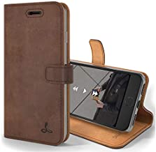 Snakehive Vintage Wallet for Apple iPhone 7 Plus    Real Leather Wallet Phone Case    Genuine Leather with Viewing Stand & 3 Card Holder    Flip Folio Cover with Card Slot (Chestnut Brown)