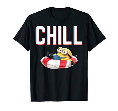 Despicable Me Minions Chill Tracer Text Pool Float T-Shirt
