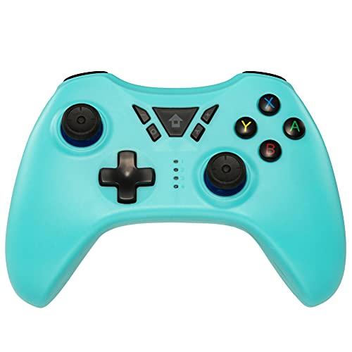 Kilcvt Controlador De Juegos Inalámbrico, Android/Pc / Ps3 con Vibración Dual/Sensor Giroscópico De 6 Ejes/Función De Audio, para Consola De Juegos Joystick Vibración Gamepad,Azul