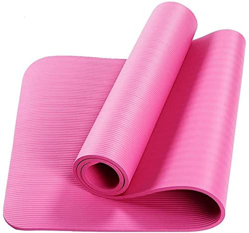 Esterilla de yoga de 60 cm de ancho para niños, antideslizante, alfombrilla de danza para hombres y mujeres (color: rosa)