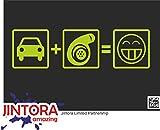 JINTORA Etiqueta para el Coche/Etiqueta engomada - Turbo Boost - 210x60 mm - JDM/Die Cut - Coche/Ventana/Laptop/Tuning - Cal