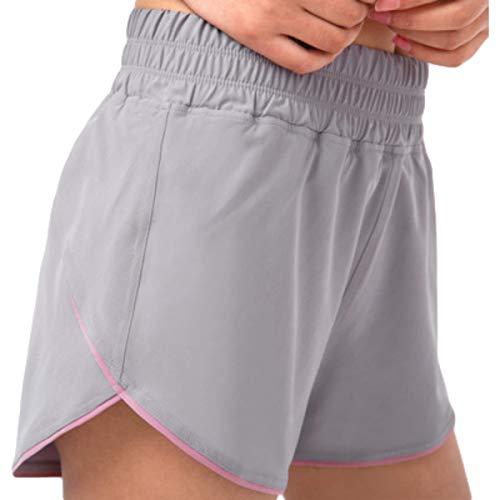 Pantalones Cortos de Mujer Pantalones Cortos Deportivos Ligeros y Transpirables de Cintura Alta Holgados Informales cómodos Pantalones Cortos para Correr S