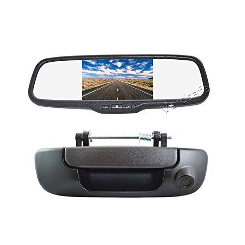 Vardsafe VS206C Rückfahrkamera mit Rückfahrgriff und Clip-on Spiegel Monitor für Dodge Ram 1500 2500 3500 (2002-2008)