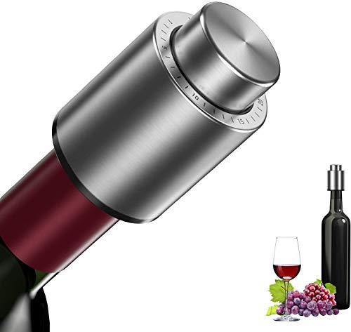 Duyifan Tapón de Botella de Vino al Vacío,Reutilizable Bomba Vacio Vino con Escala de Tiempo, Bomba de Vacío para Vino, Amantes del Vino