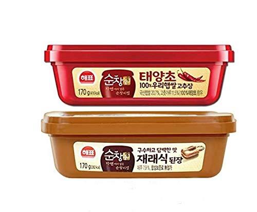 Korean Sauce 5.9Oz Variety 2 Pack (Gochujang, Sojabohnenpaste)