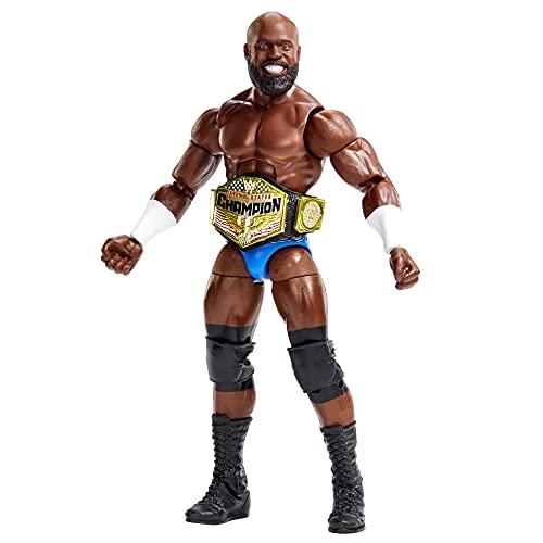 WWE Élite Figura de acción Apollo Crews, muñeca articulada de juguete con accesorios para niños +6 años (Mattel GVB79)