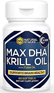 Sponsored Ad – Natural Stacks Cold Pressed Krill Oil - One bottle contains a 30-day supply - Promotes Heart Health, Reliev...
