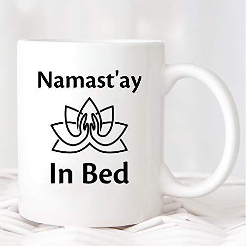 Namastay - Taza de regalo con texto en inglés 'Hermana', regalo para profesoras, yoga, inauguración de la casa, regalo de yogi, taza de café de cerámica