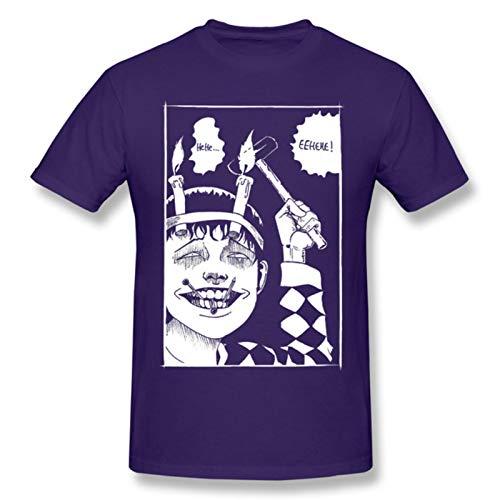 Junji Ito Souichi Tsujii Black T Shirt Junji Ito Homme T-Shirt Tees Pure Short Sleeve