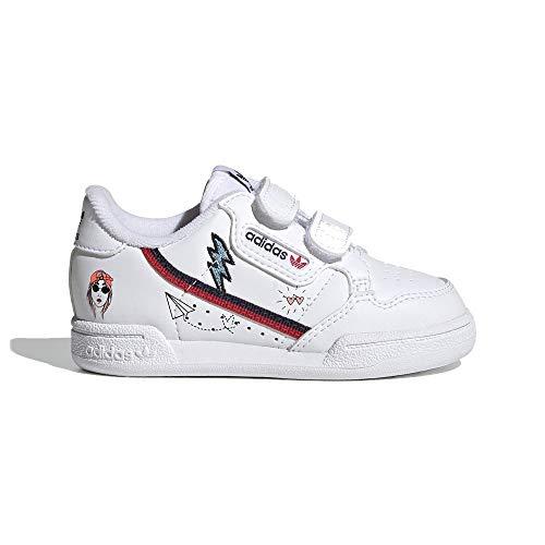 adidas Continental 80 CF I, Zapatillas Deportivas Unisex niños, FTWR White Collegiate Navy Scarlet, 20 EU