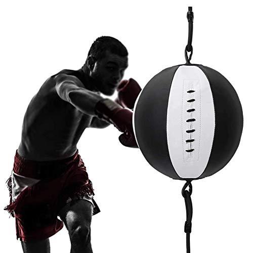 WILK Soporte Saco de Boxeo de Doble Extremo, Pelota de Boxeo de Cuero de PU para Gimnasio en Casa, Pelota de Doble Extremo para Boxeo MMA Speed Training Bola de Golpe Giratoria Colgante