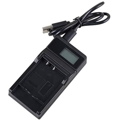 Cámaras de viaje rápidas USB delgadas LCD Reemplazo del kit de cargador de batería rápido Compatible con Sony NP-F550, NP-F750, NP-F960, NP-F970, NP-FM50, NP-FM70, NP-FM90, NP-QM71D, NP-QM91D, Videocá